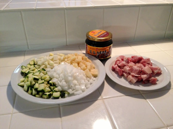 Ingredients for Jjajangmyeon