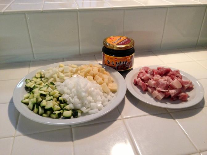 Ingredients for Jjajangmyeon